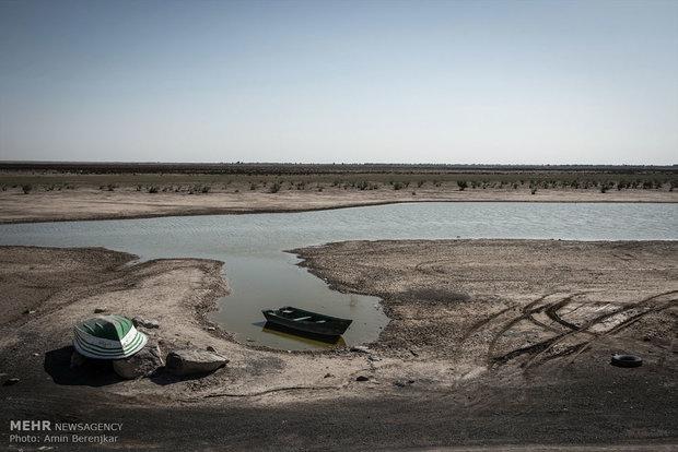 ۳۵ درصد از گستره تالاب هامون آبگیری شده است
