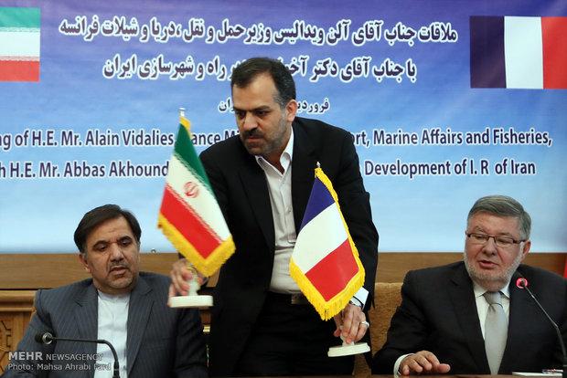 دیدار وزیرحمل و نقل فرانسه با وزیر راه و شهرسازی ایران