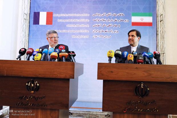 دیدار وزیر راه و شهرسازی ایران با وزیر حمل و نقل فرانسه