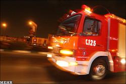 شیر هیدرانت  آتش نشانی در نواحی منفصل شهری سنندج نصب می شود