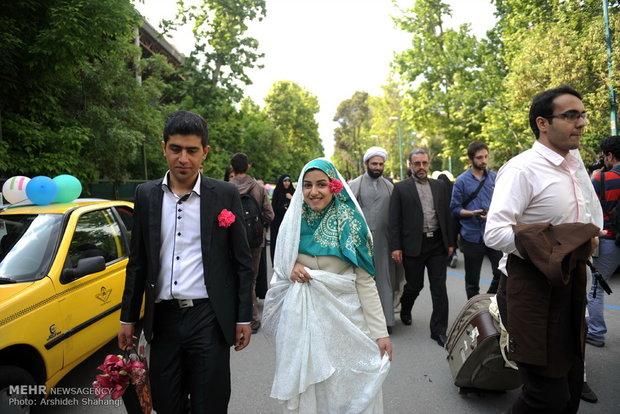 حفل زواج جماعي لطلبة ايرانيين