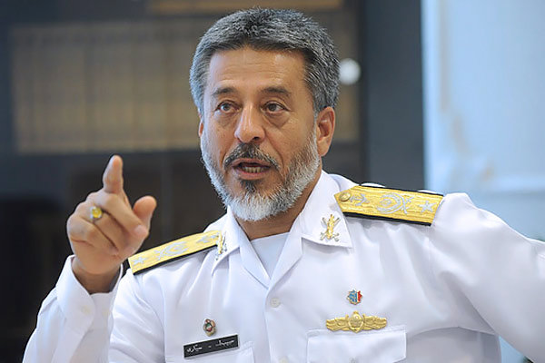 الادميرال سياري : لن يكتب النجاح لأي مشروع في المنطقة دون الرجوع الى ايران