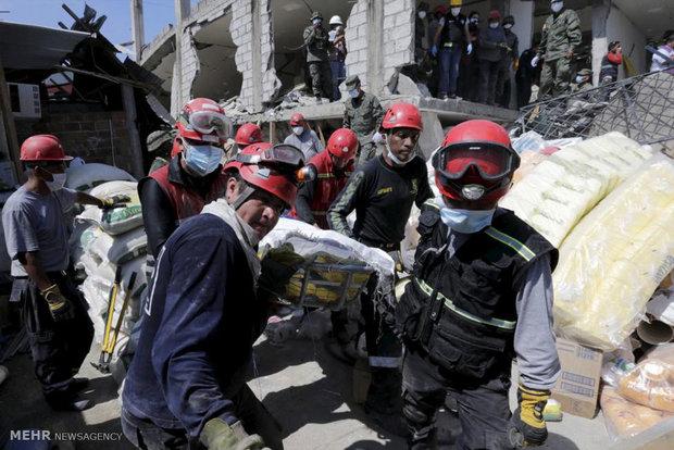 ویرانی های زلزله اکوادور