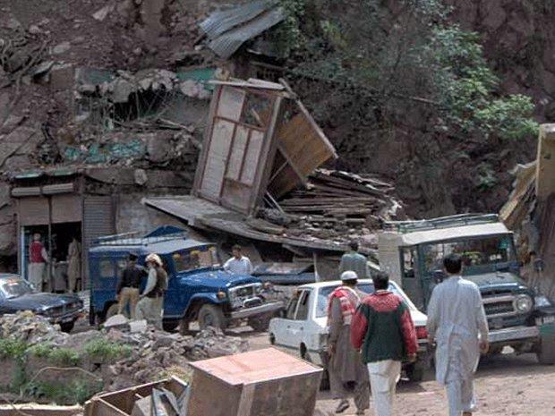 مظفر آباد کے نواحی علاقہ  میں دو گاؤں صفحہ ہستی سے مٹ گئے