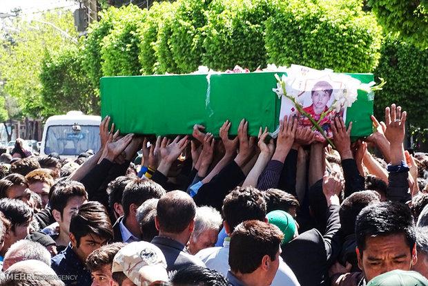 تشییع پیکر دو شهید مدافع حرم حضرت زینب (س) در دلیجان