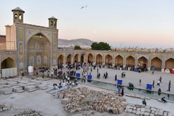 شیراز میں اعتکاف کی معنوی تقریب