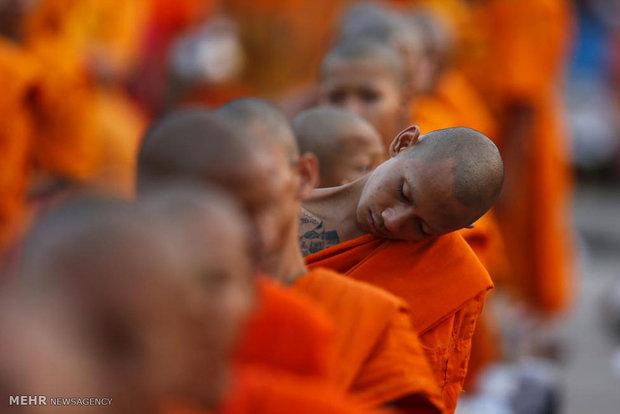 گردهم آیی راهبان در تایلند