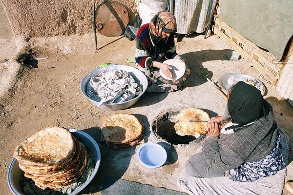 نان سنتی سمنان / نانوایی / روستا