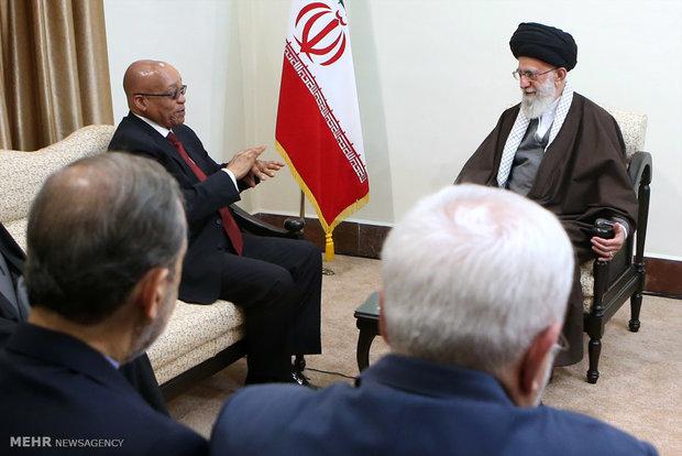دیدار رئیس جمهور آفریقای جنوبی با رهبر معظم انقلاب