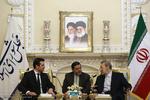 دیدار وزیر خارجه مقدونیه با رئیس مجلس شورای اسلامی