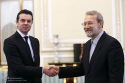 Makedonya Dışişleri Bakanı, Laricani ile görüştü