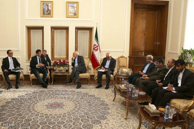 دیدار معاون رئیس جمهور اروگوئه با محمد جواد ظریف وزیر امور خارجه