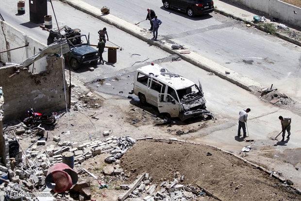 دمشق کے علاقہ زینبیہ میں بم دھماکے کی تصاویر