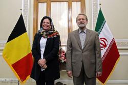 Iran Parl. speaker, Belgian Senate head meet