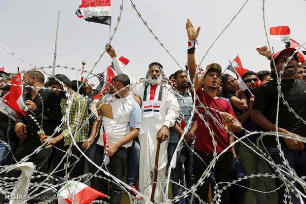 فلم/ مقتدی صدر کے حامی  مظاہرین عراقی پارلیمنٹ میں پہنچ گئے