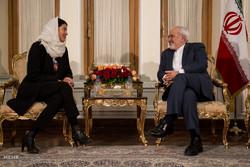 جواد ظریف  سے بیلجیئم کی سینیٹ کی سربراہ کی ملاقات