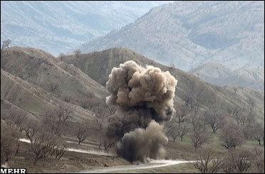 انفجار مین باز هم در قصرشیرین/ یک نفر دچار موج گرفتگی شد