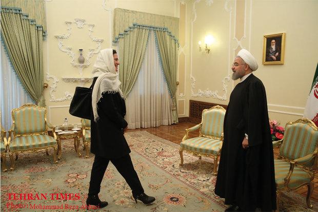 Rouhani meets with head of Belgium Senate