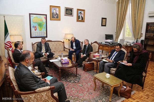 دیدار یان کوبیش نماینده دبیر کل سازمان ملل متحد در امور عراق با امیرعبدالهیان معاون عربی و آفریقای وزارت امور خارجه