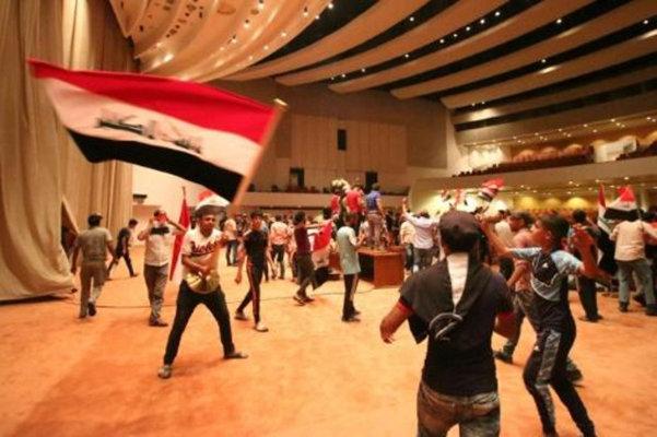 اجراءات امنية مشددة في بغداد بعد احتلال محتجين البرلمان لساعات