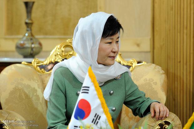 رئيسة كوريا الجنوبية تصل الى طهران