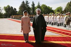 الرئيس الايراني يقيم مراسم استقبال رسمية لرئيسة كوريا الجنوبية