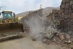 ۱۳ باب مغازه غیرمجاز در ناحیه منفصل شهری «ننله» سنندج تخریب شد