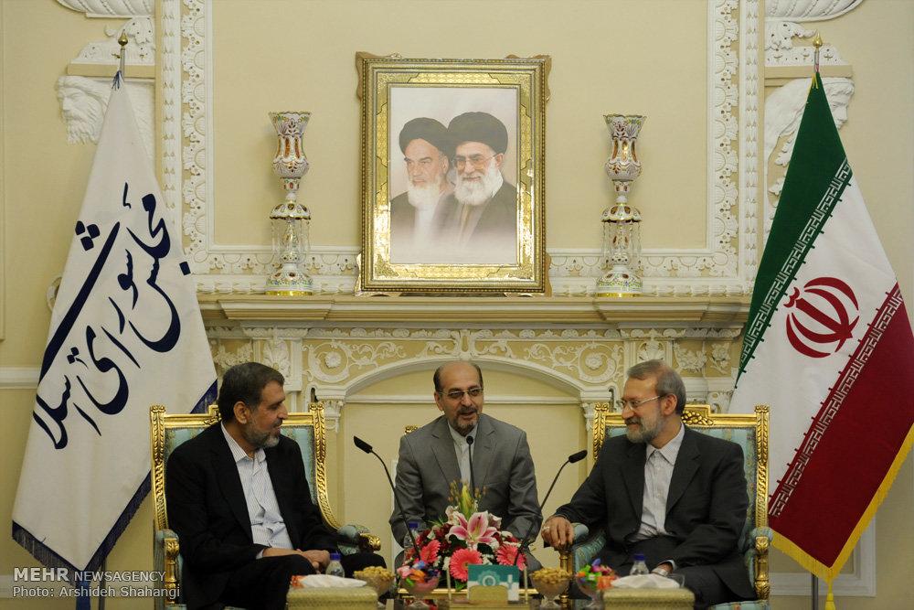 الامين لحركة الجهاد الاسلامي يلتقي رئيس مجلس الشورى الاسلامي