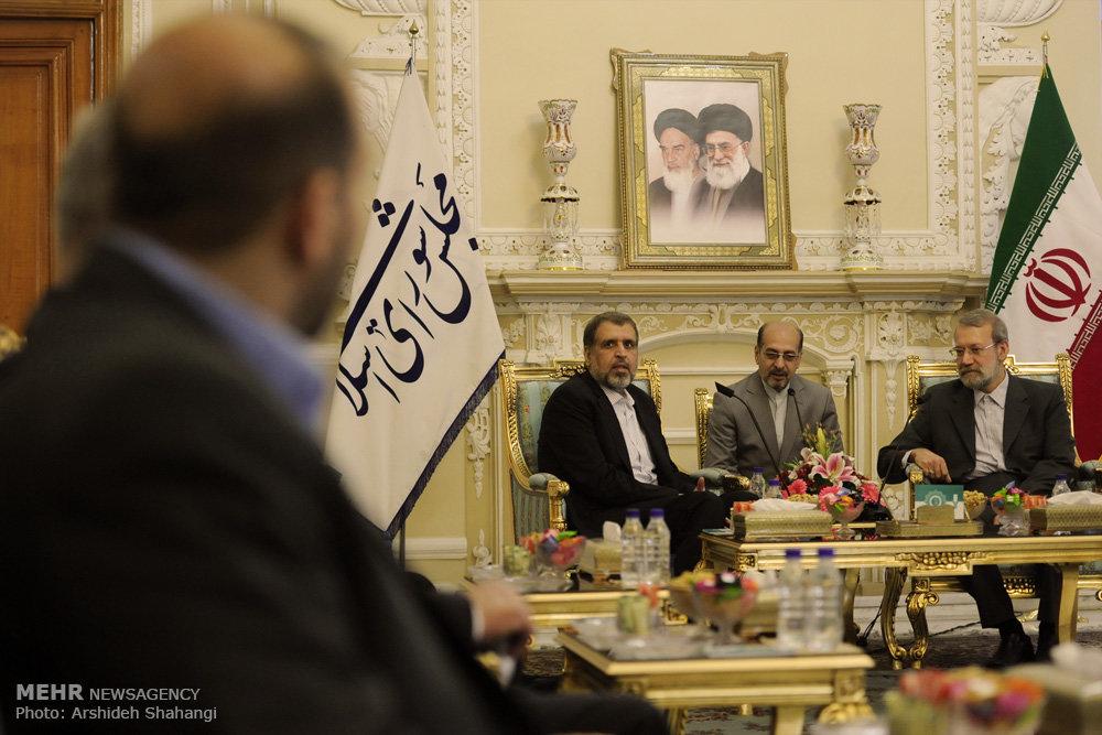 لقاء الامين لحركة الجهاد الاسلامي مع رئيس مجلس الشورى الاسلامي