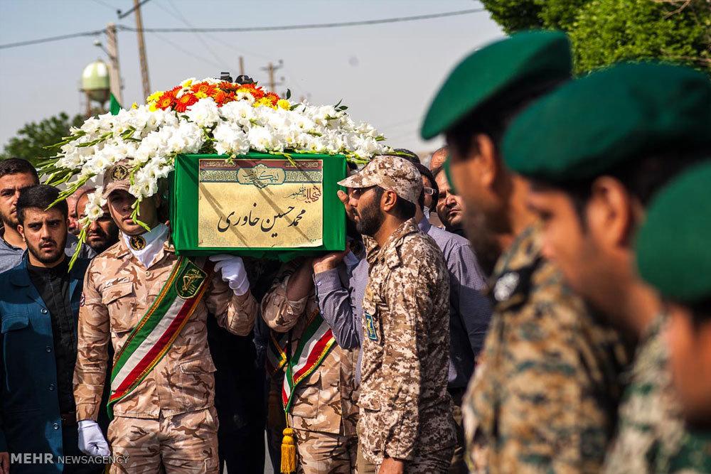 مراسم تشییع پیکر شهید مدافع حرم محمدحسین خاوری