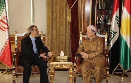 سفیر ایران در عراق با مسعود بارزانی دیدار کرد