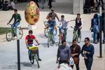 دوچرخه سواری ها و ماجراهای توفان بهاری در شهر آفتاب