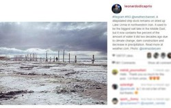 DeCaprio posts on drying Lake Urmia