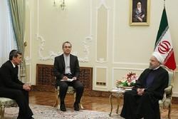 دیدار روحانی و وزیر خارجه ترکمنستان