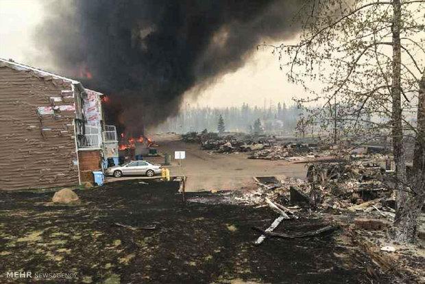 الحرائق الواسعة في غرب كندا