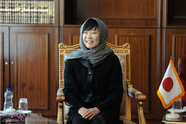 Tehran Times interview with Japan's first lady