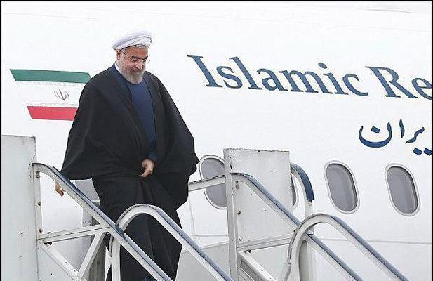 رئيس الجمهورية حسن روحاني يصل الى محافظة كرمان