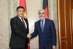 «عبدالله عبدالله» در دوشنبه با نخست وزیر قرقیزستان دیدار کرد