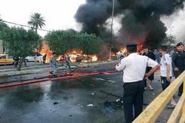 حمله موشکی به کمپ لیبرتی(منافقین) در غرب بغداد