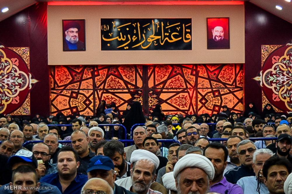 تشییع پیکر شهید سید مصطفی بدرالدین فرمانده ارشد حزب الله لبنان
