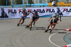مسابقات اسکیت سرعت مردان استان مرکزی در اراک برگزار شد
