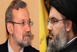 لاريجاني يعزي السيد نصرالله باستشهاد القائد مصطفى بدرالدين
