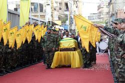 Hezbollah supporters participate in Badreddine's funeral in Beirut