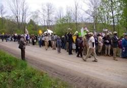 تظاهرات در یکی از روستاهای آمریکا علیه اسلام هراسی