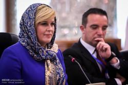 کروشیا کی صدر کی ایرانی اسپیکر کے ساتھ ملاقات