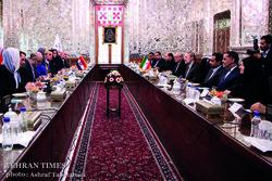 Larijani, Grabar-Kitarović meet