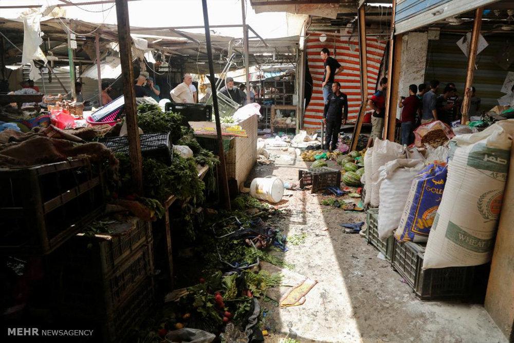 التفجير الارهابي في منطقة الكرادة وسط بغداد