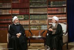 دیدار حسن روحانی رئیس جمهور با مراجع  قم