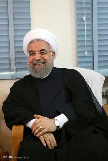 Cumhurbaşkanı Ruhani Kum'da