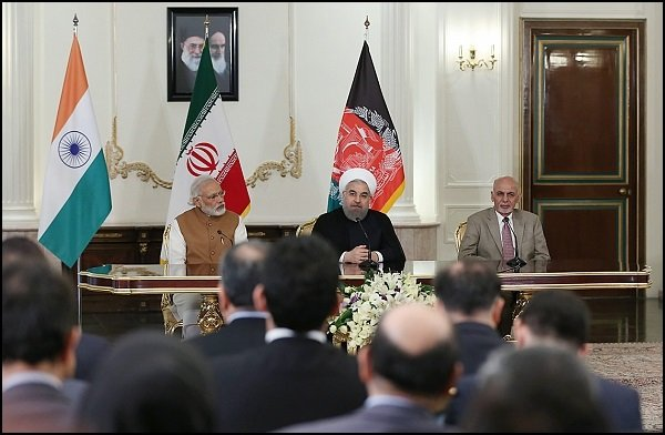 Ashraf Ghani, Narendra Modi on Chabahar deal